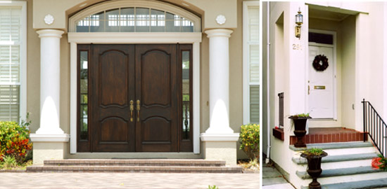 Home entrances pictures.